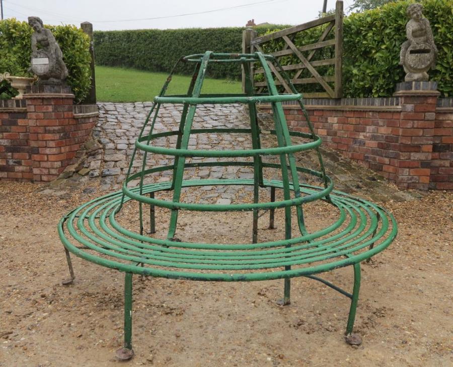 tree seats garden furniture. Perfect Seats Large Round Wrought Iron Garden Tree Seat Intended Seats Furniture