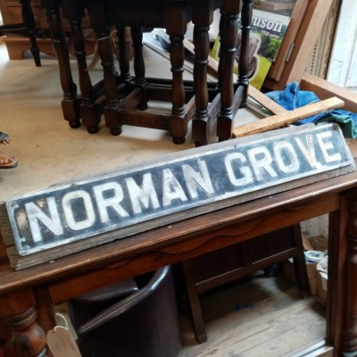 Vintage sign, Norman grove