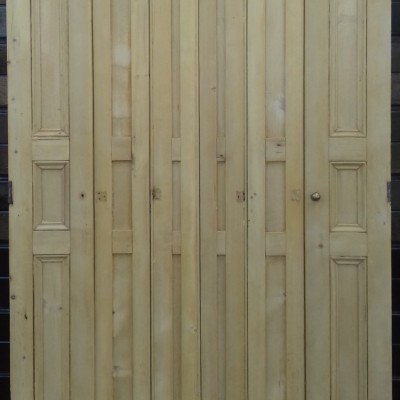 Victorian pine window shutters.