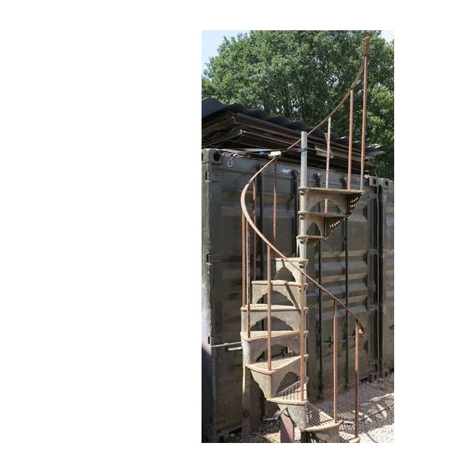 Small Reclaimed Industrial Cast Iron Spiral Staircase