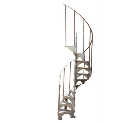 Small Industrial Cast Iron Spiral Staircase