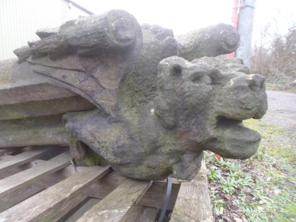 Antique carved stone Gargoyles / Grotesques