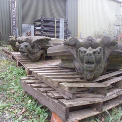 Antique carved stone Gargoyles / Grotesques