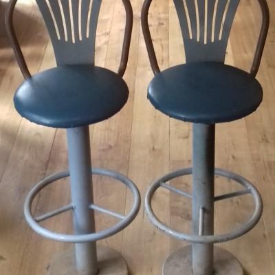 1950s factory machinist swivel stools