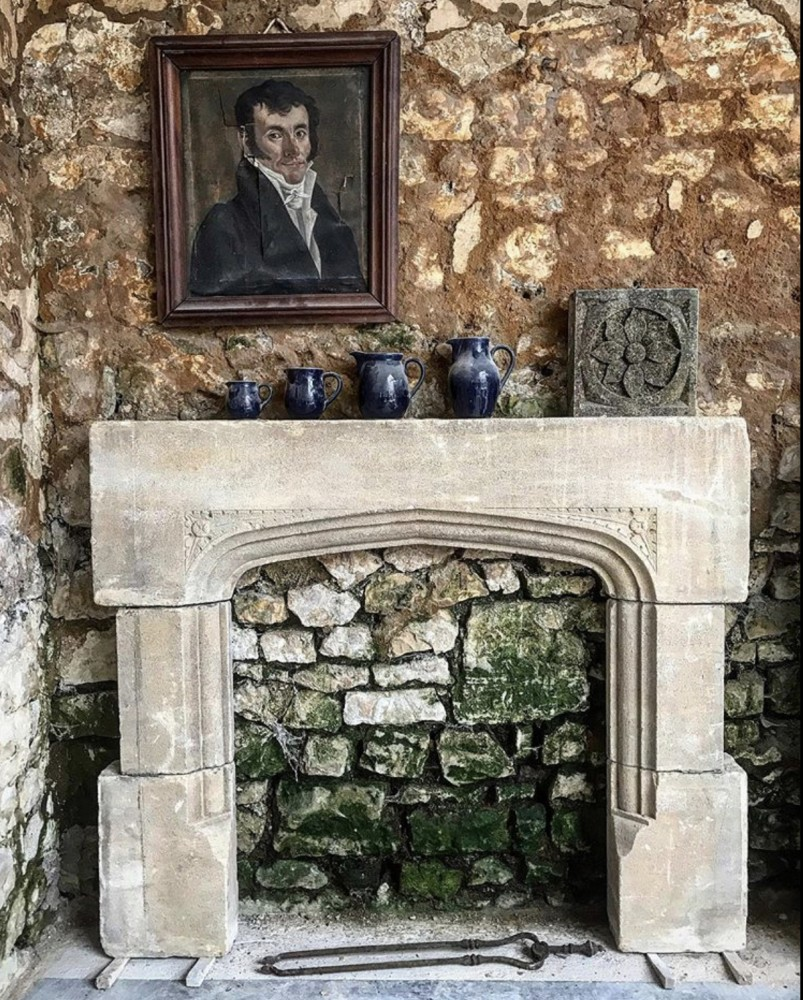 Antique Cotswold Stone Fireplace