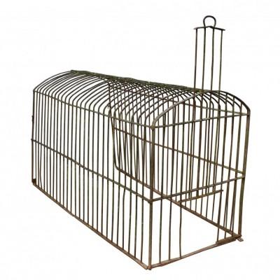 A rare 19th C English wrought iron dog kennel / run