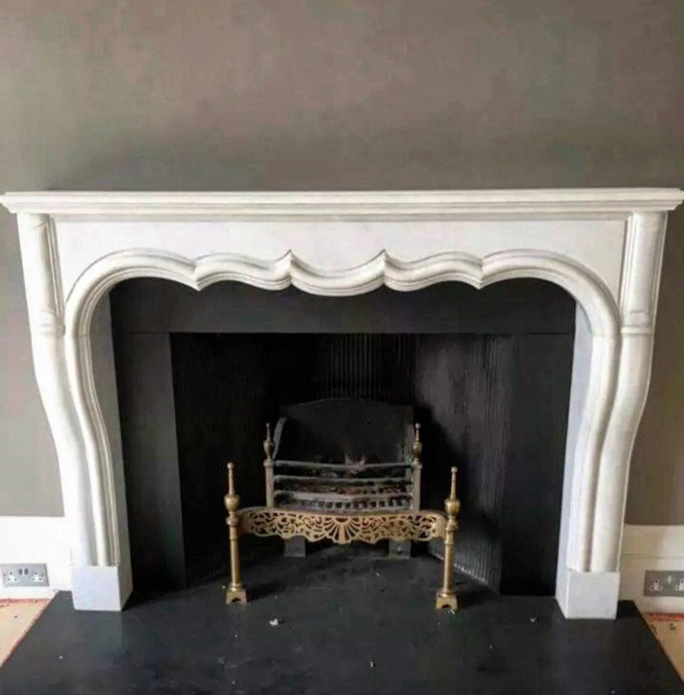 Large antique French Marble Fireplace