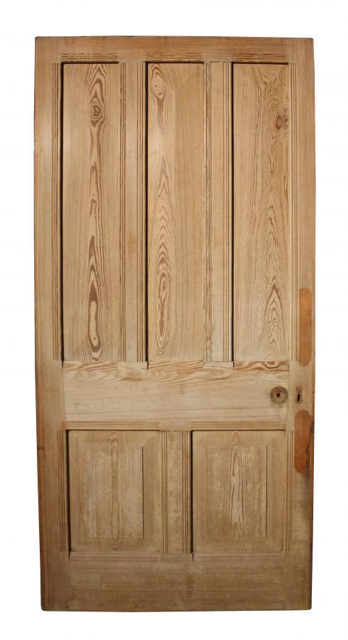 A late 19th C pine front door