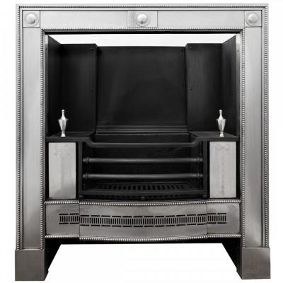 Reclaimed Georgian Style Polished Steel Register Grate in the Manner of Robert Adam