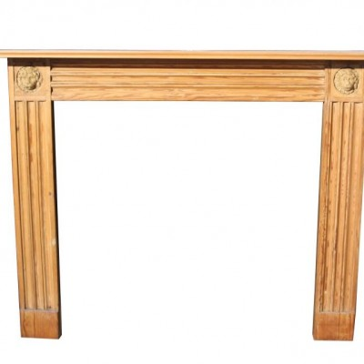 A 19th Century pine and composition fire surround