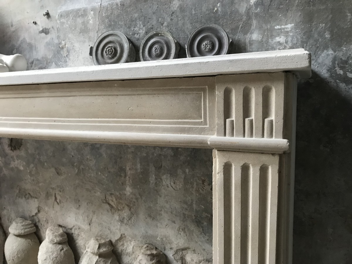 Antique Stone Fireplace From Paris