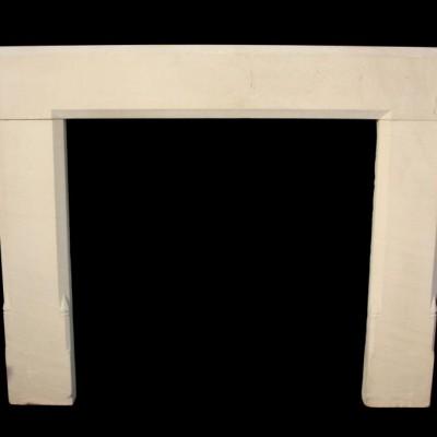 An early 20th C. Portland Limestone fireplace