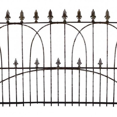A very large and unusual early 19th C wrought iron estate gate