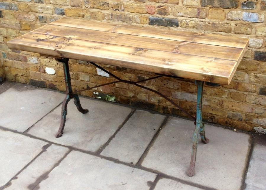 Reclaimed Pine And Cast Iron Industrial Table