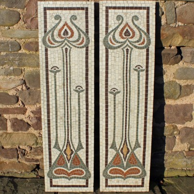 Pair of Art Nouveau mosaic panels