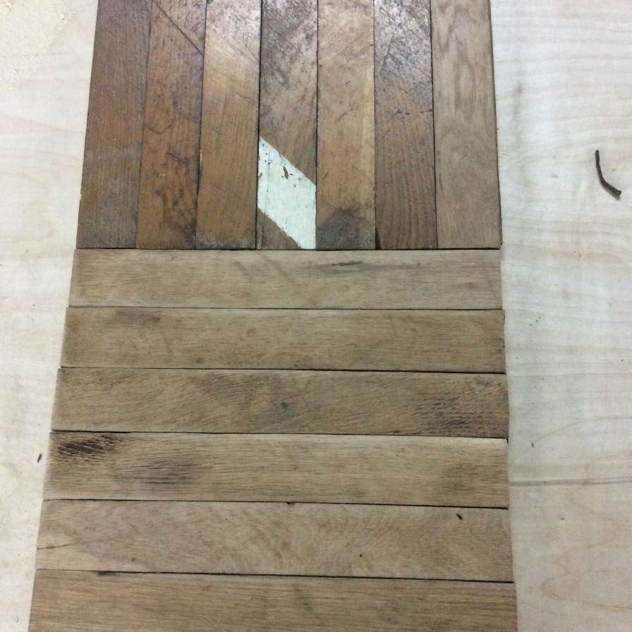 6. Pattern as laid. DA sanded and as they come in.
