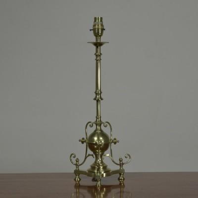 Aesthetic Period Brass Lamp