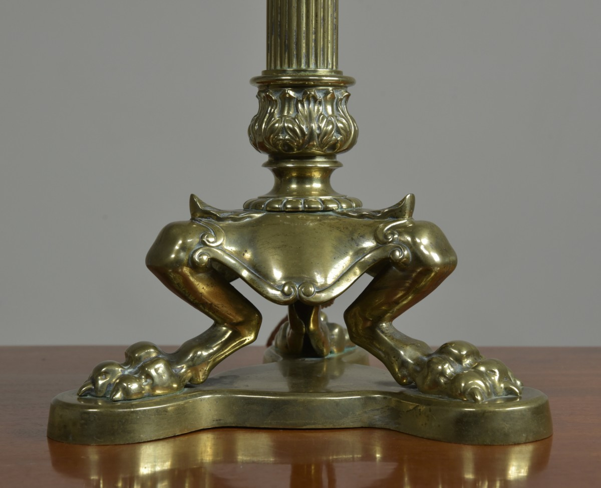 Claw Footed Table Lamp -19thC