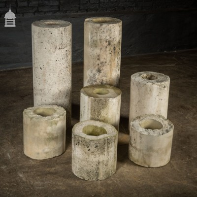 7 Pieces of Reclaimed Composition Stone Cylinders