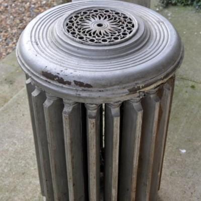 rare circular antique cast iron radiator