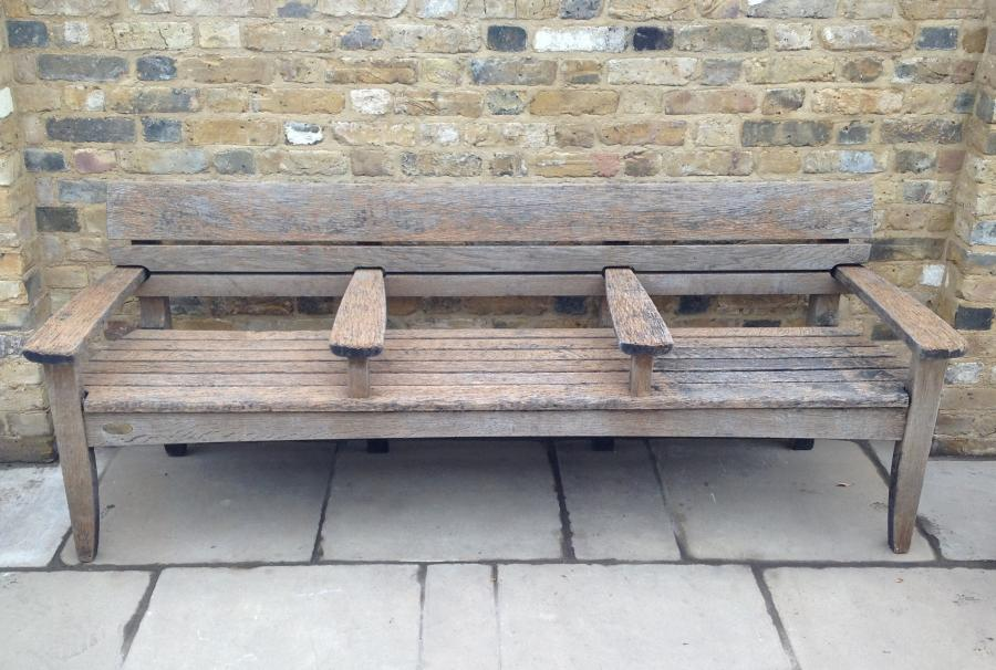 Reclaimed 'Wales and Wales' Oak Bench - 4 Available