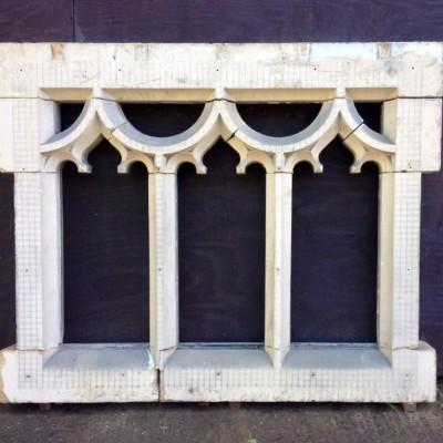 A Antique Gothic Stone Window