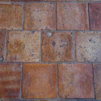 Antique reclaimed French terra-cotta tiles