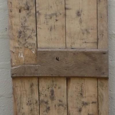 Early oak & pine ledged door