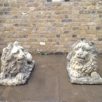 A Pair Of Reclaimed Lions