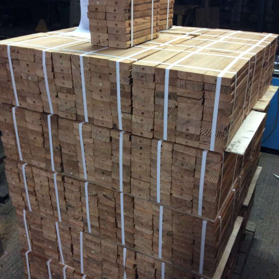 Bundled into 40's, Strapped and Palletised ready for delivery