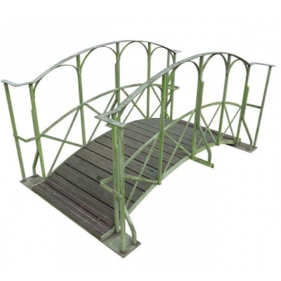 Antique Timber & Iron Pedestrian Foot Bridge For Ponds & Streams