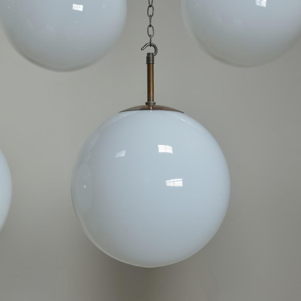 Large Opaline  Globe Lights x 7