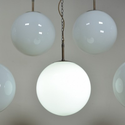 Large Opaline  Globe Lights x 7