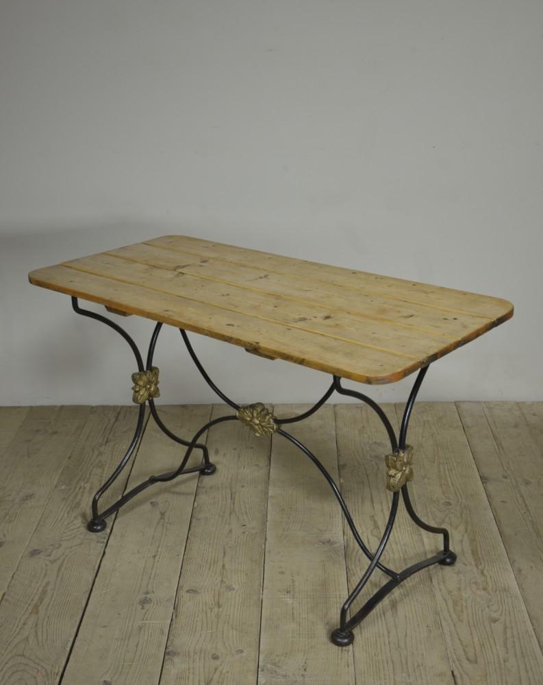 19th Century Iron X-Framed Table