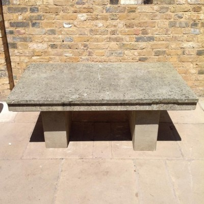 Reclaimed Yorkstone and Sandstone  Garden Table