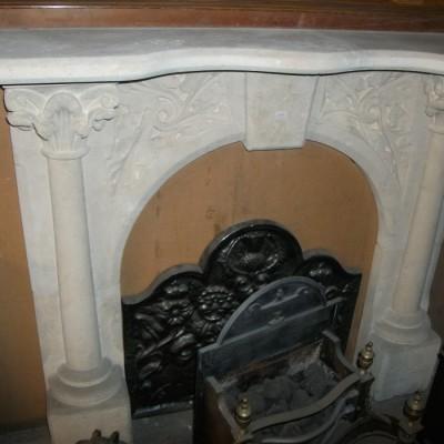 carved bathstone surround