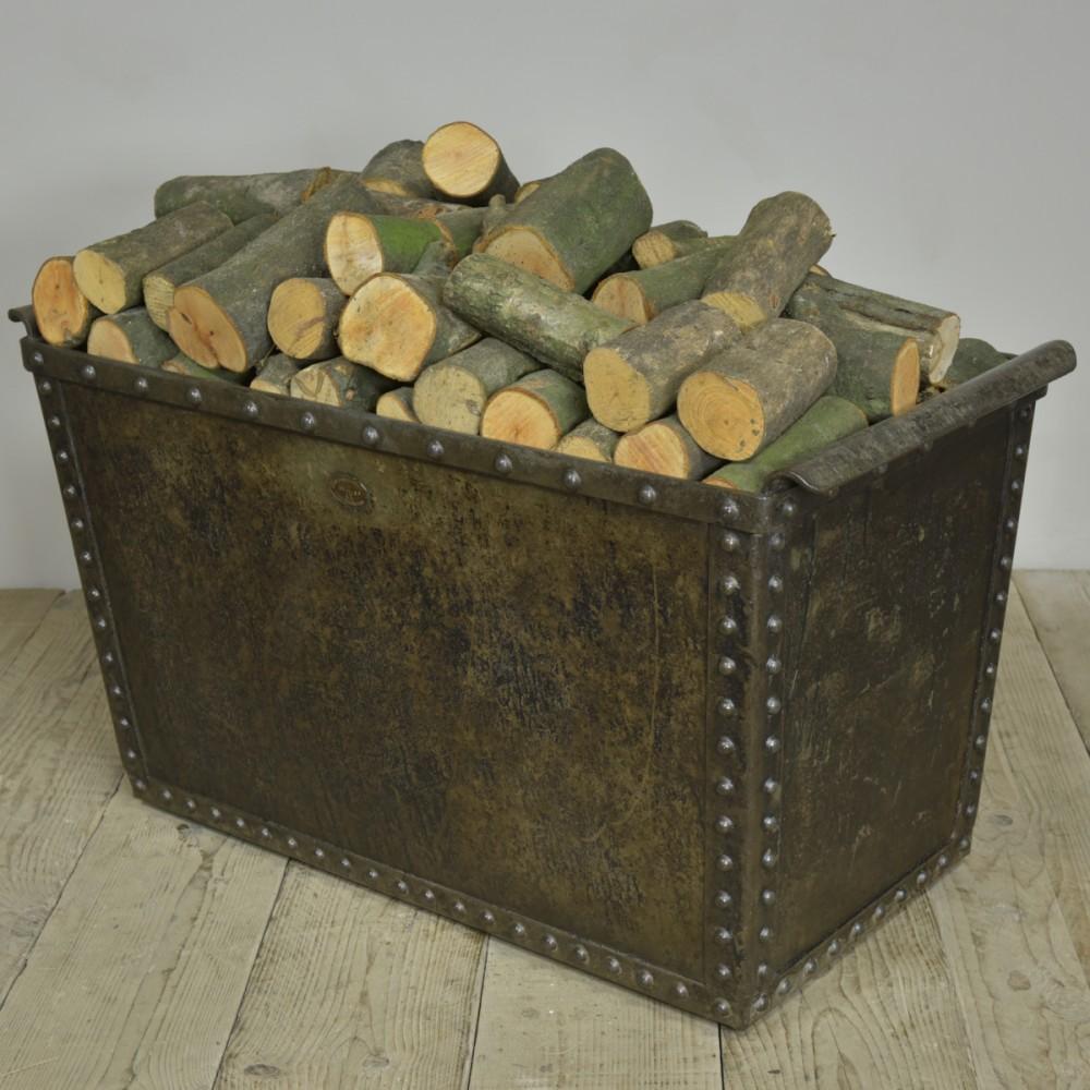 "Antique Riveted ""Quencher"" Tank / Log Bin"