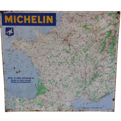 A 1962 Michelin road map of France