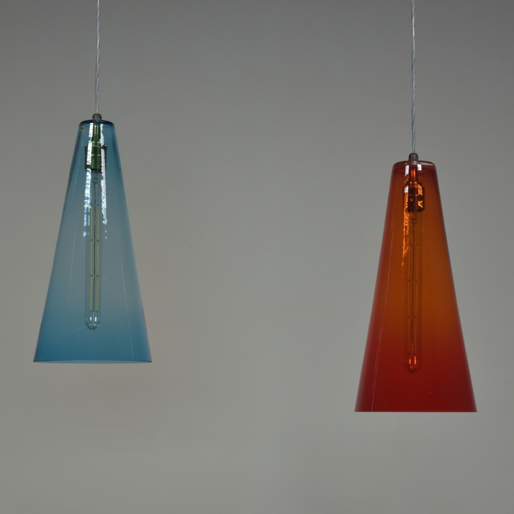 Danish Conical Glass Pendant Lights