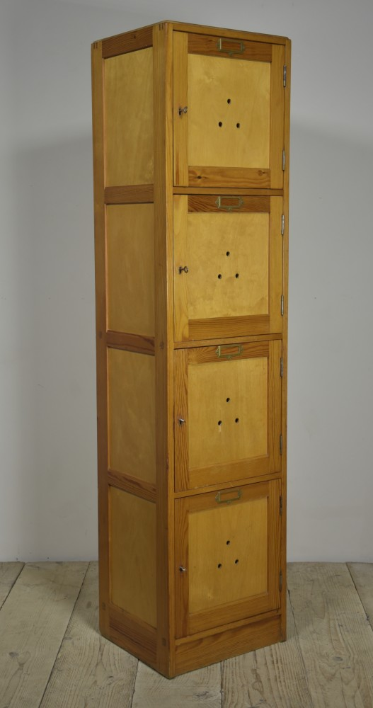 1950s School Locker Cabinet