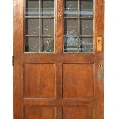 Reclaimed glazed oak door