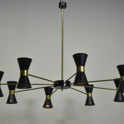 1950s Diabolo Chandelier - Large Scale