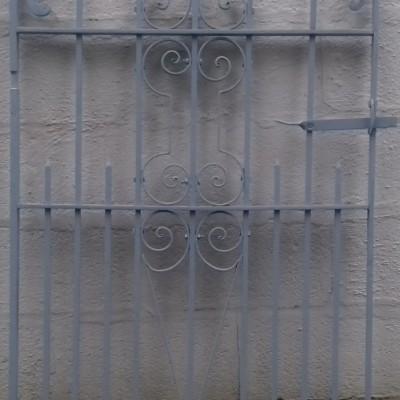 Victorian  wrought iron pedestrian gate.