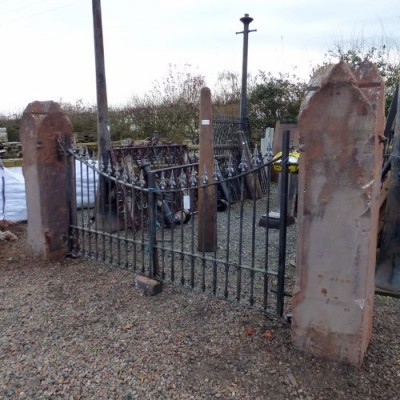 Pair of Large Red Cheshire Sandstone Gate Posts RWI3820