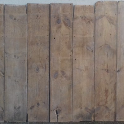 19th century pine wall cladding / paneling.
