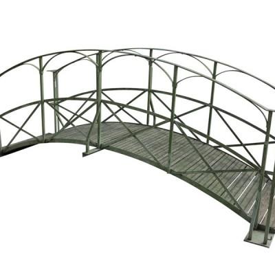 Iron & Timber Pedestrian Foot Bridge For Streams & Ponds