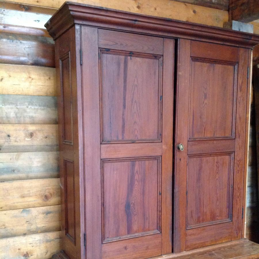 Reclaimed Pitch  Pine Linen Cupboard