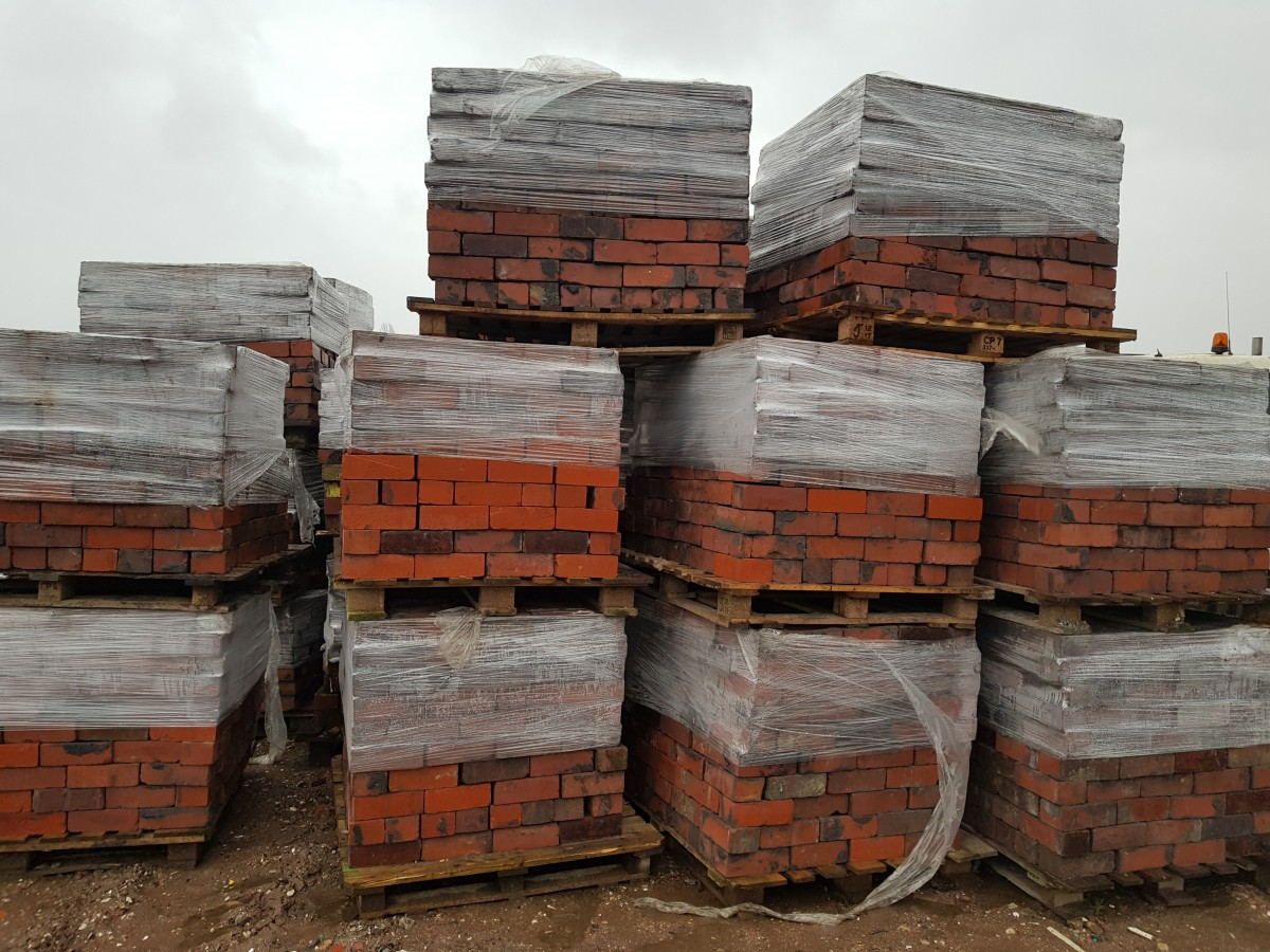 "Reclaimed 3"" Red Accrington bricks"