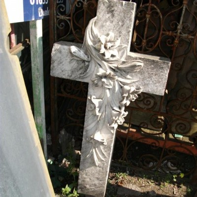 carved marble cross