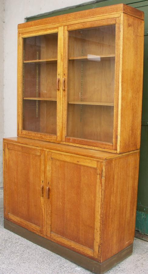 waring and gillow oak bookcase